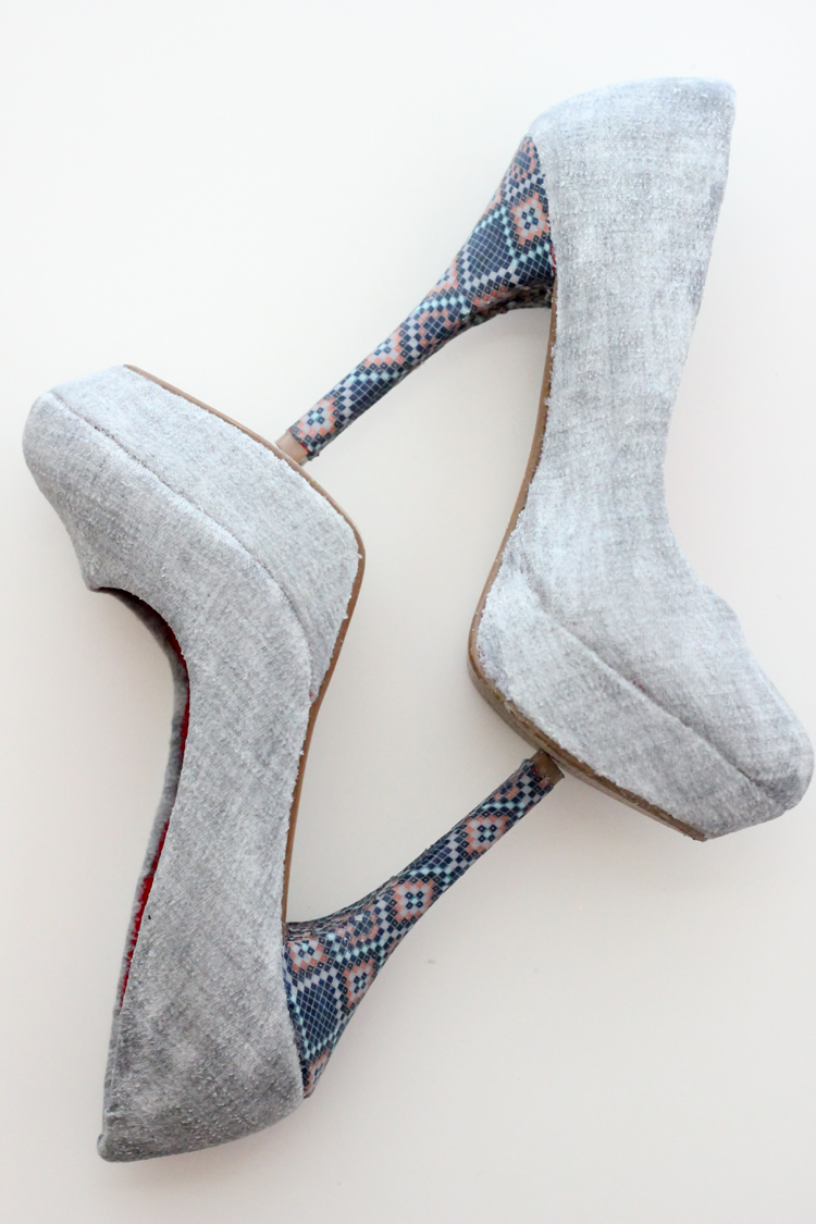 of stylish diy fabric covered shoes 1