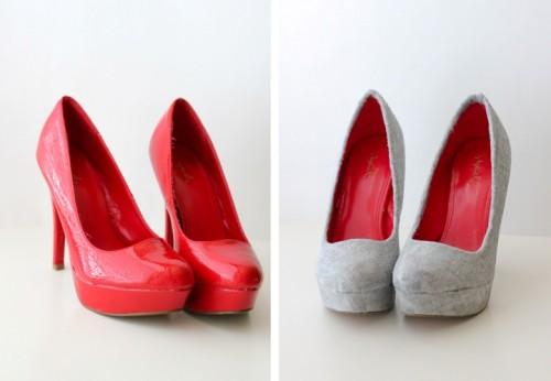 Stylish DIY Fabric Covered Shoes