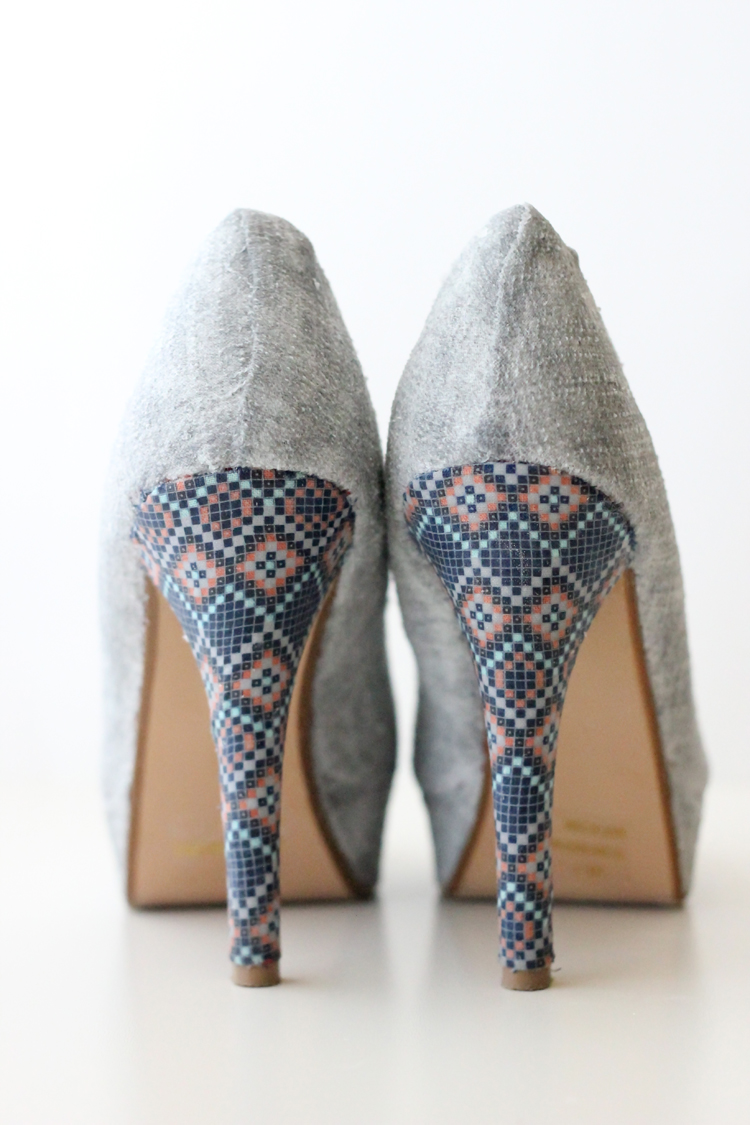of stylish diy fabric covered shoes 6
