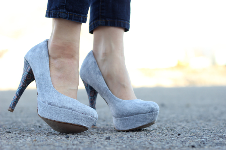Picture Of stylish diy fabric covered shoes  7