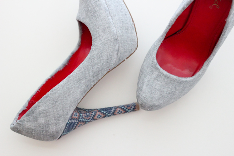 Picture Of stylish diy fabric covered shoes  9