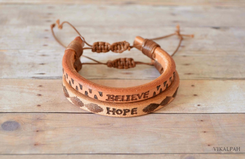 Picture Of stylish diy leather bracelet for men  1