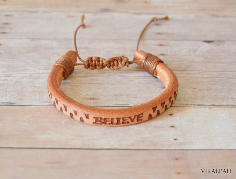 Picture Of stylish diy leather bracelet for men  9