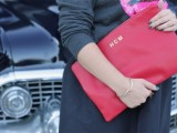 monogrammed clutch for $12