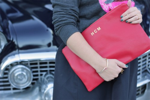 monogrammed clutch for $12 (via styleoholic)