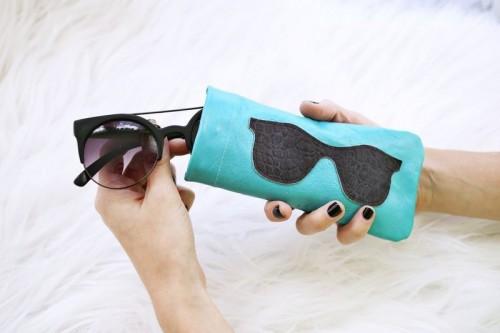 Stylish DIY Leather Sunglasses Holder
