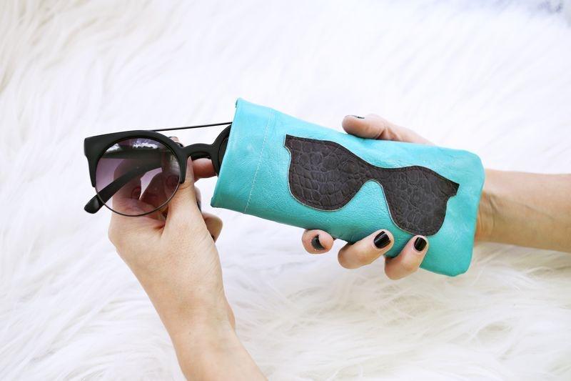 Picture Of stylish diy leather sunglasses holder  3