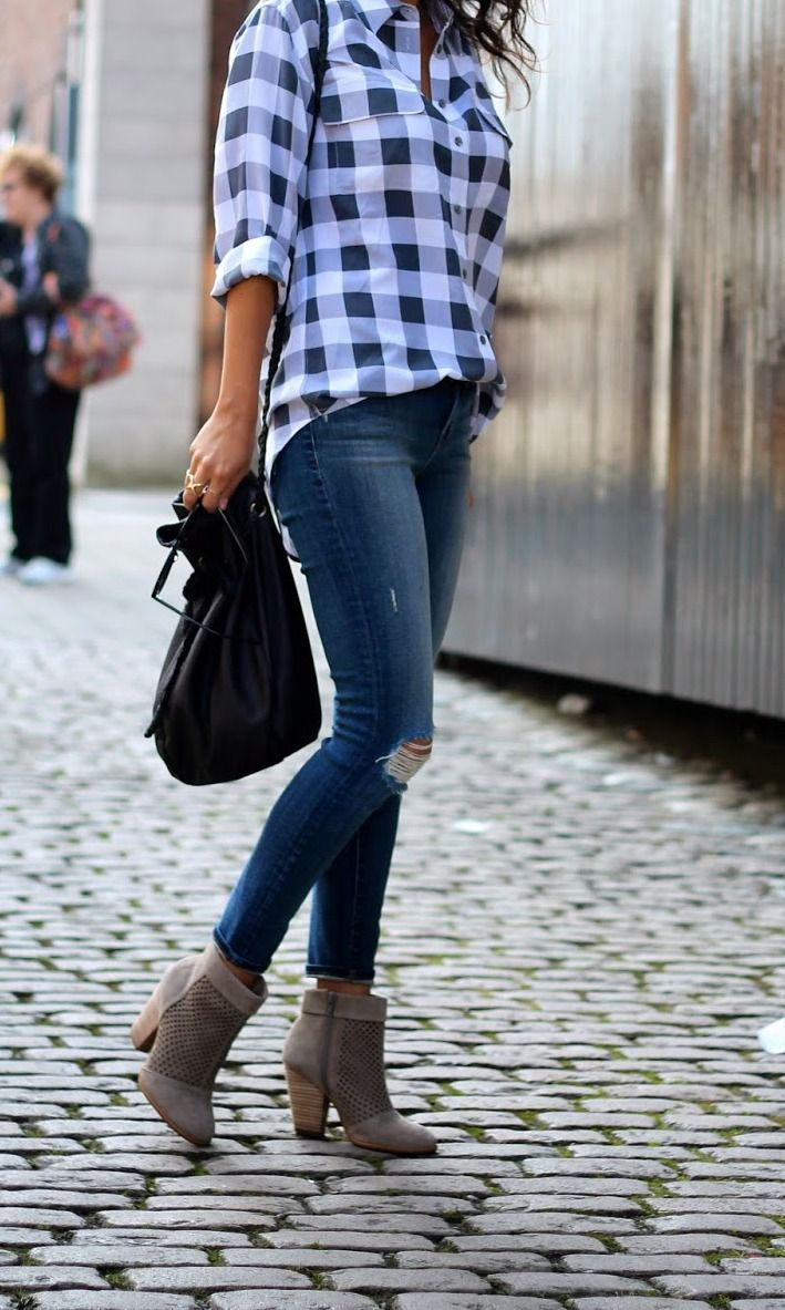 Picture Of stylish gingham outfits  15
