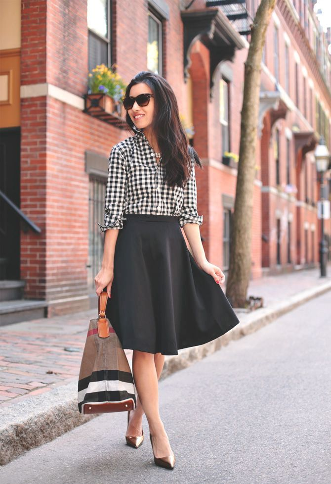 Picture Of stylish gingham outfits  9