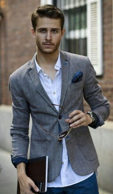 Picture Of stylish men looks with jeans suitable for work  16