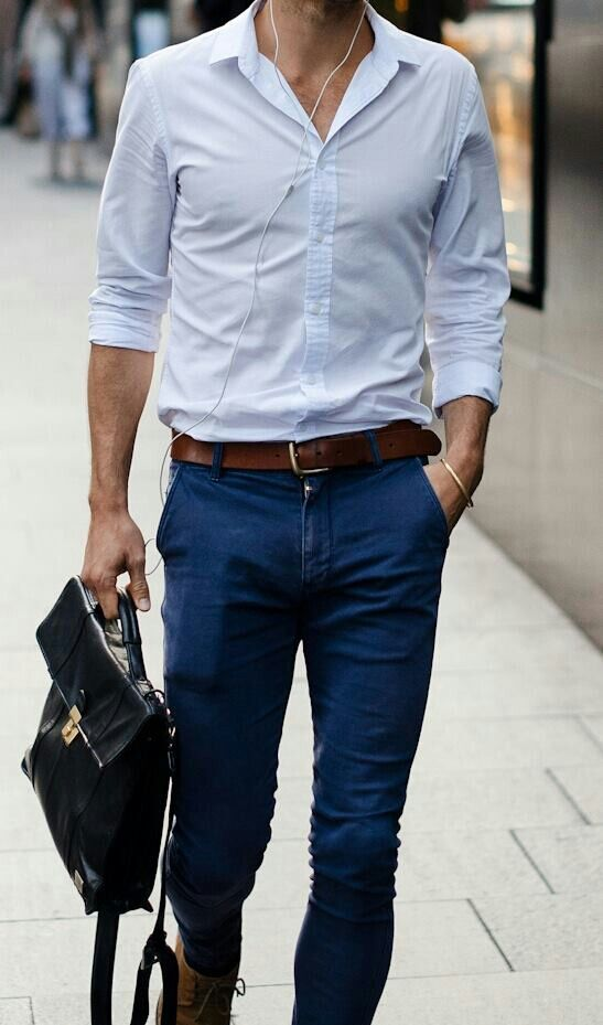 Picture Of stylish men looks with jeans suitable for work  17