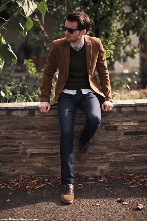 Picture Of stylish men looks with jeans suitable for work  19