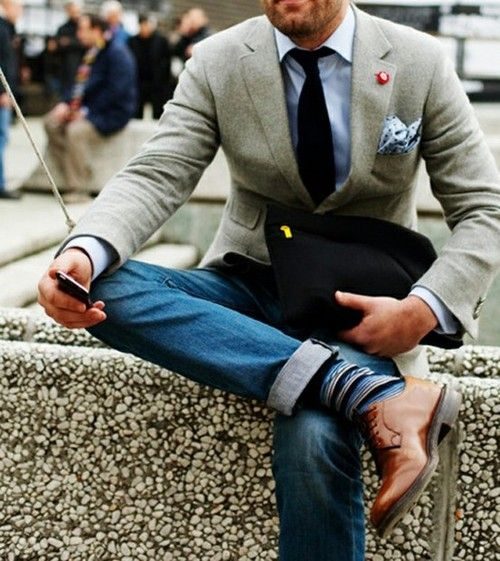 Picture Of stylish men looks with jeans suitable for work  22