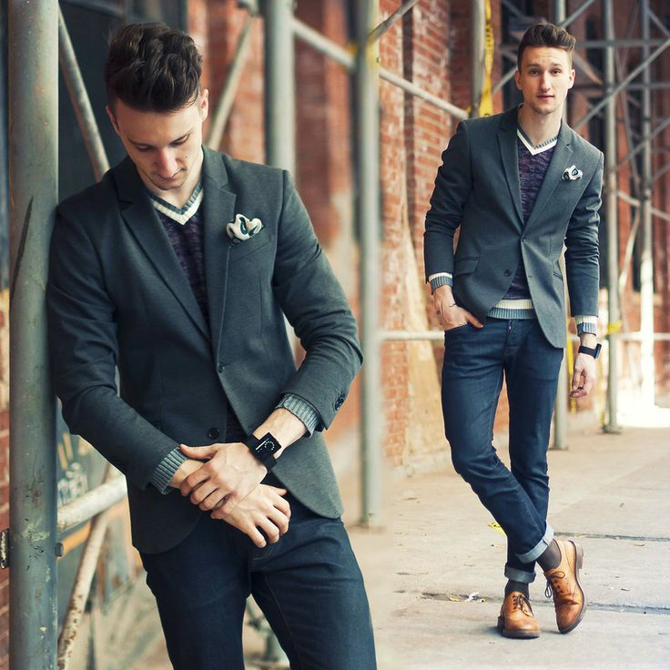 Picture Of stylish men looks with jeans suitable for work  23