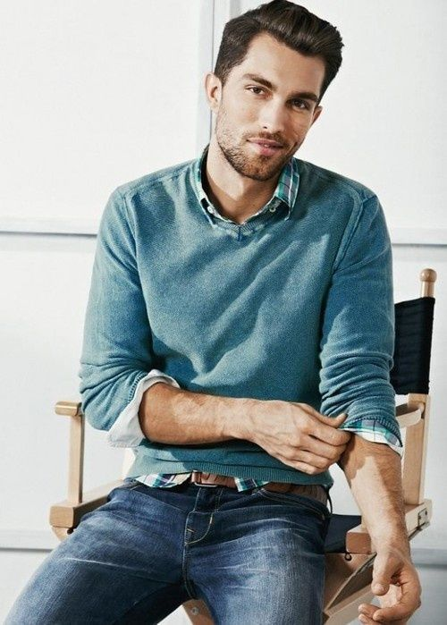 Picture Of stylish men looks with jeans suitable for work  24