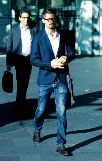 Picture Of stylish men looks with jeans suitable for work  30