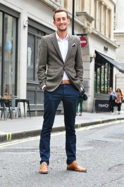 Picture Of stylish men looks with jeans suitable for work  37