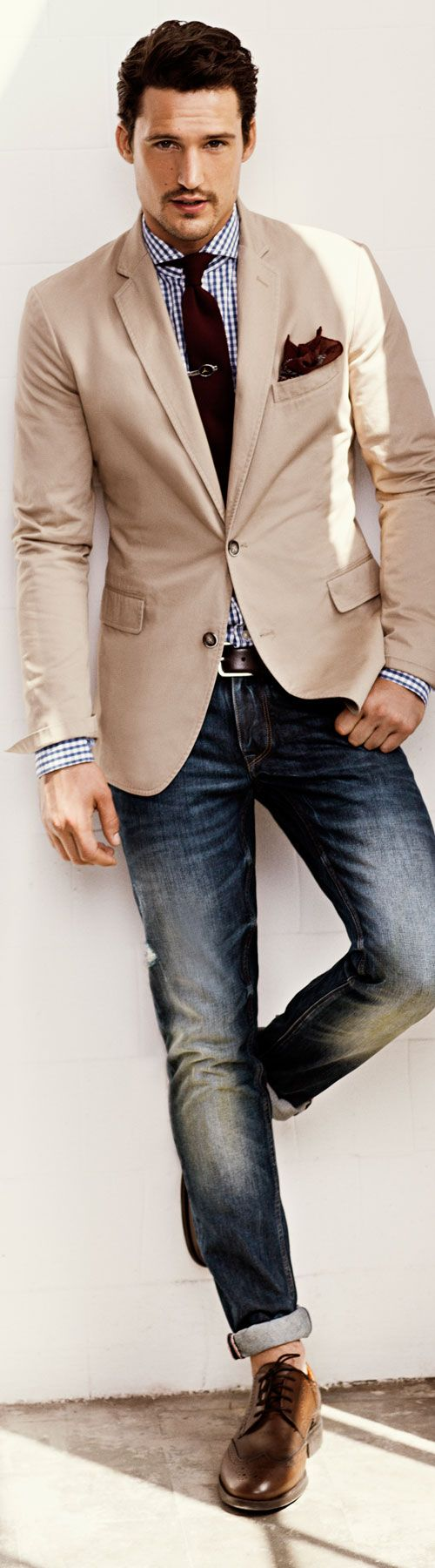 38 stylish men looks with jeans suitable for work - styleoholic