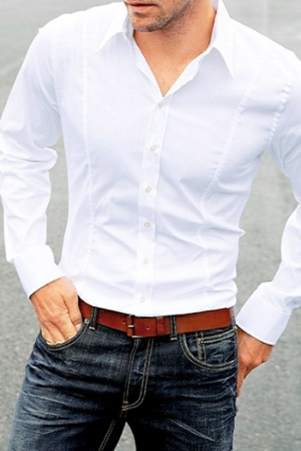 Picture Of stylish men looks with jeans suitable for work  5