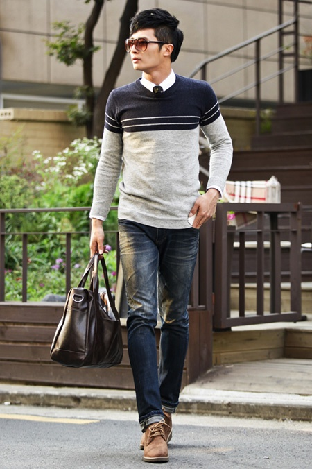Picture Of stylish men looks with jeans suitable for work  9