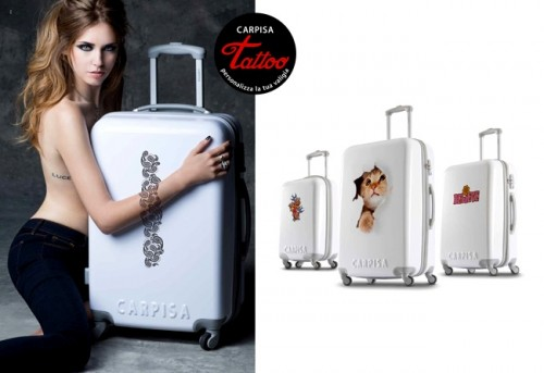 Stylish Suitcases Collection To Personalize With Tattoos