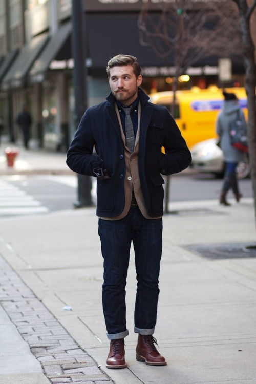 25 stylish winter men outfits for work styleoholic. Black Bedroom Furniture Sets. Home Design Ideas