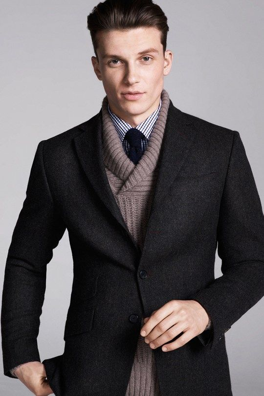 Picture Of stylish winter men outfits for work  24