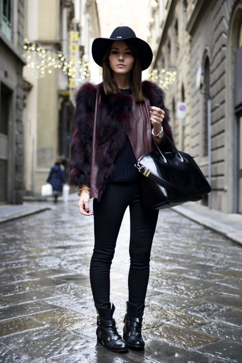 fc17e2435c5 21 Super Chic Short Fur Coat Outfits To Feel Warm In Winter ...