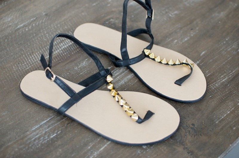 Picture Of super cool diy studded sandals  1