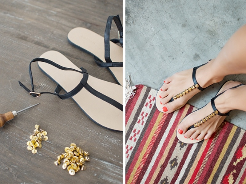 Picture Of super cool diy studded sandals  2