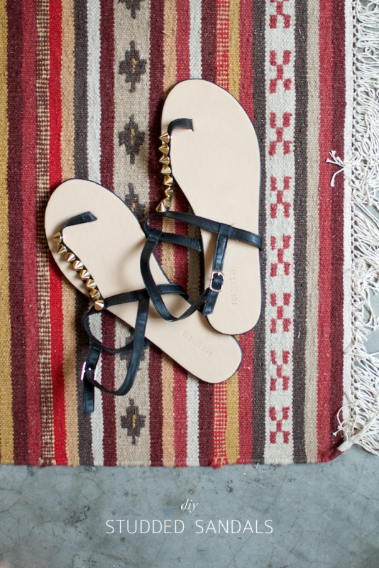 Picture Of super cool diy studded sandals  3