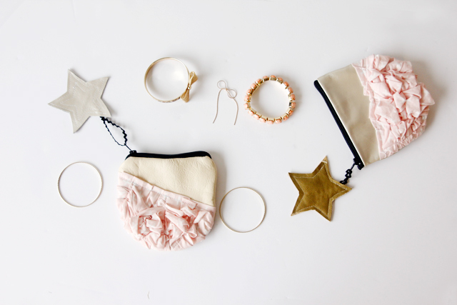 Picture Of super cute diy smashed fabric and leather pouches  1