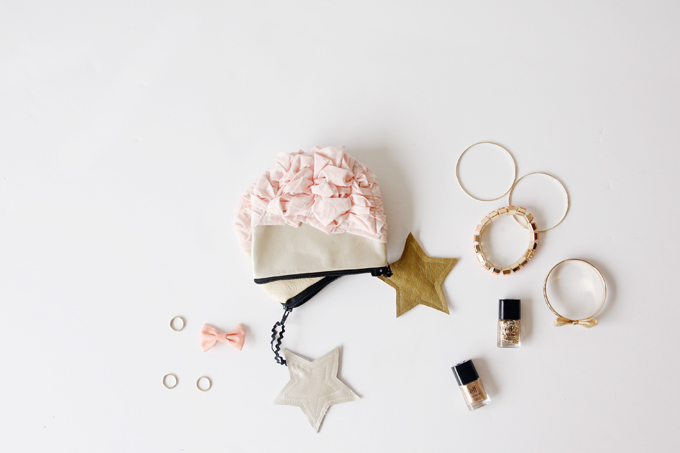 Picture Of super cute diy smashed fabric and leather pouches  3
