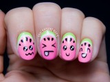 super-cute-diy-watermelon-nail-art-3