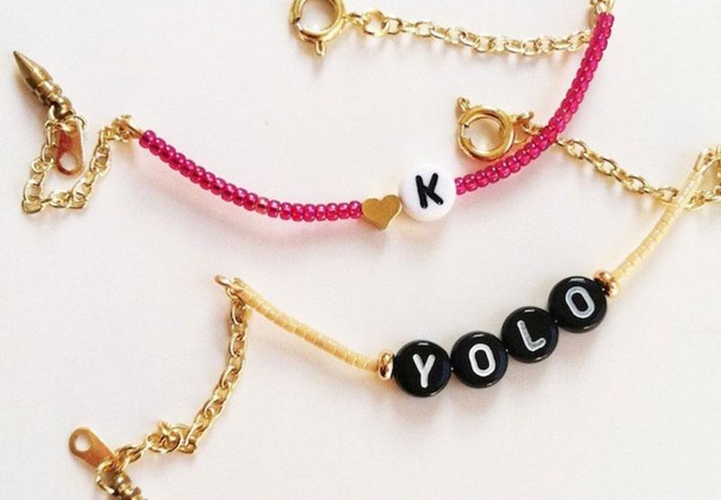 Picture Of super easy diy alphabet bracelets  3