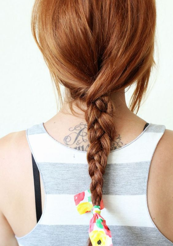 Picture Of super easy diy textured summer braid to make  1