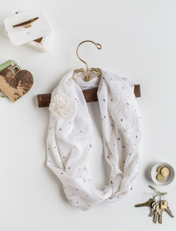 Picture Of sweet and airy diy dotted summer scarf  1