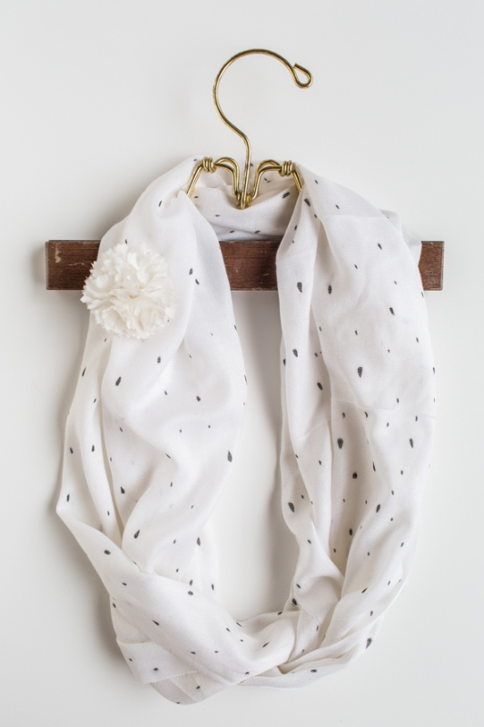 Picture Of sweet and airy diy dotted summer scarf  3