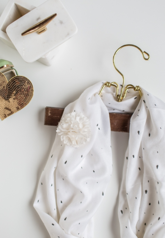 Picture Of sweet and airy diy dotted summer scarf  4
