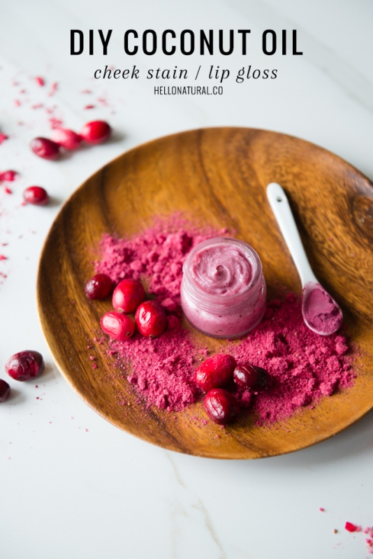 Picture Of sweet diy cranberry coconut lip gloss  1