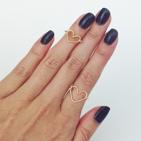 Picture Of sweet diy wire heart ring as a valentines day gift  2