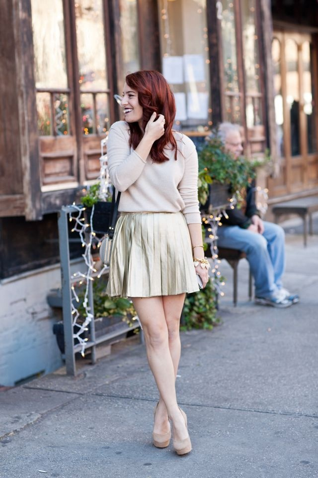 Picture Of the hottest fall trend pleated mini skirt  5
