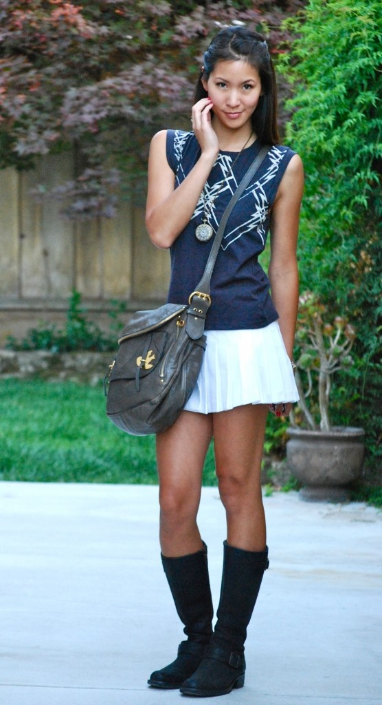 Picture Of the hottest fall trend pleated mini skirt  8