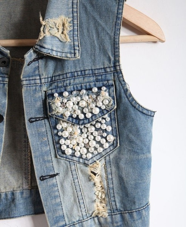 Picture Of the hottest fashion trend 10 pearl embellished denim outfits  8