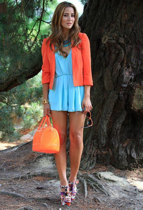 Picture Of trendy bright summer outfits  11