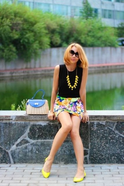 Picture Of trendy bright summer outfits  15