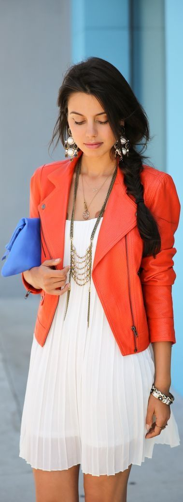 Picture Of trendy bright summer outfits  8
