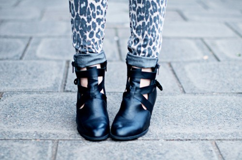 Trendy DIY Cut Ankle Boots