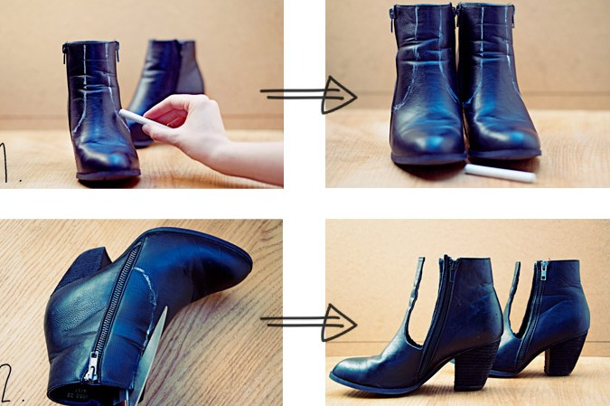 Picture Of trendy diy cut ankle boots  2