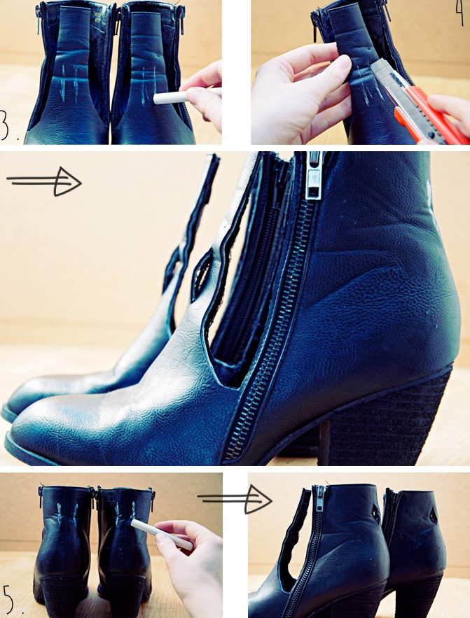 Picture Of trendy diy cut ankle boots  3